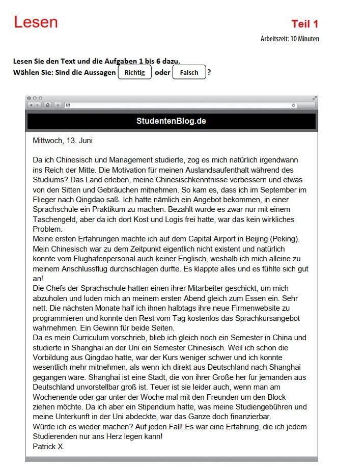 Tài liệu thi tiếng Đức B1